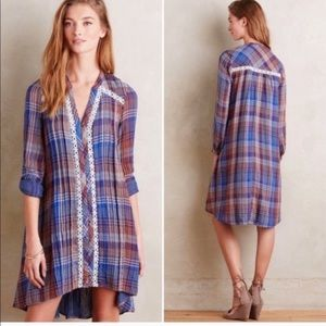 Holding Horses Anita Plaid Tunic Shirt Dress
